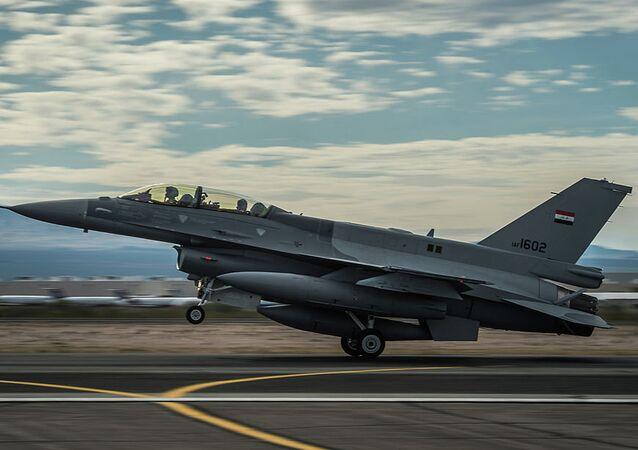 Caza F-16 de la Fuerza Aérea de Irak