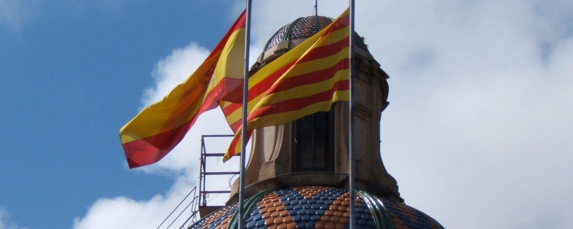 Banderas de España y Cataluña  - Sputnik Mundo, 1920, 29.06.2021