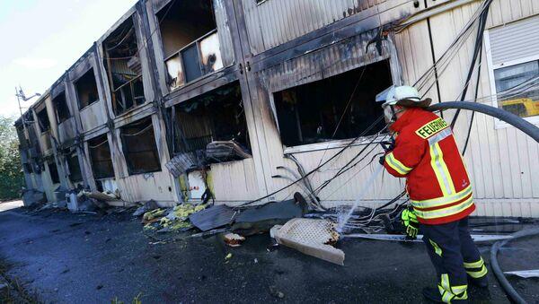Asilos para refugiados incendiados en Rottenburg, el 7 de septiembre, 2015 - Sputnik Mundo