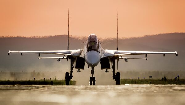 Су-30СМ Воздушно-космических сил России - Sputnik Mundo