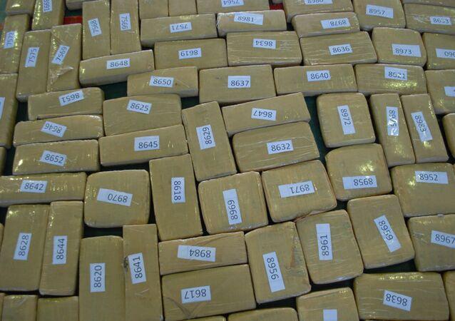 Marihuana está empaquetada en cajas