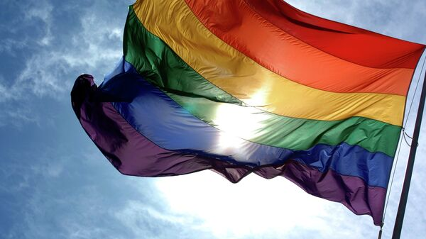 Bandera arcoíris, símbolo del movimiento LGBT - Sputnik Mundo