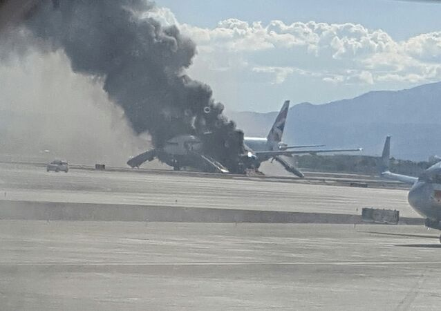 Incendio de avión de British Airways en Las Vegas, EEUU