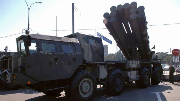 Lanzacohetes múltiple ruso BM-30 Smerch - Sputnik Mundo
