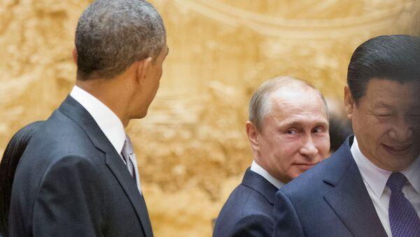 Barack Obama, Vladímir Putin y Xi Jinping (Archivo) - Sputnik Mundo