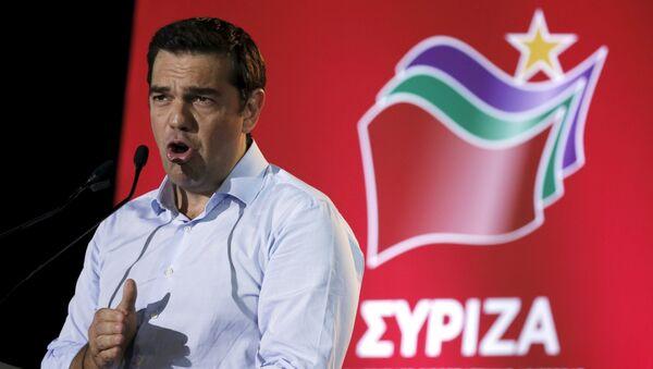 Alexis Tsipras, exprimer ministro de Grecia, durante una reunión del partido Syriza - Sputnik Mundo