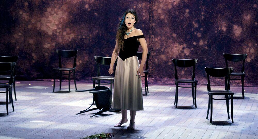 Irina Lungu interpreta el papel de Violetta en la ópera La Traviata (archivo)