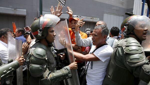 Disturbios en Caracas - Sputnik Mundo