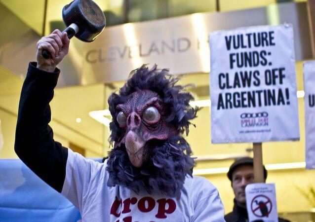 Protesta contra los fondos buitres en Argentina
