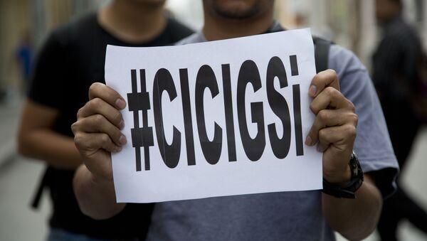 'CICIG si' en una manifestación a favor de CICIG - Sputnik Mundo