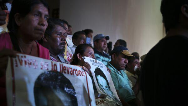 Familiares de los estudiantes desaparecidos en Iguala - Sputnik Mundo