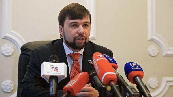 Denís Pushilin, presidente interino del Parlamento de la autoproclamada República Popular de Donetsk (RPD) - Sputnik Mundo