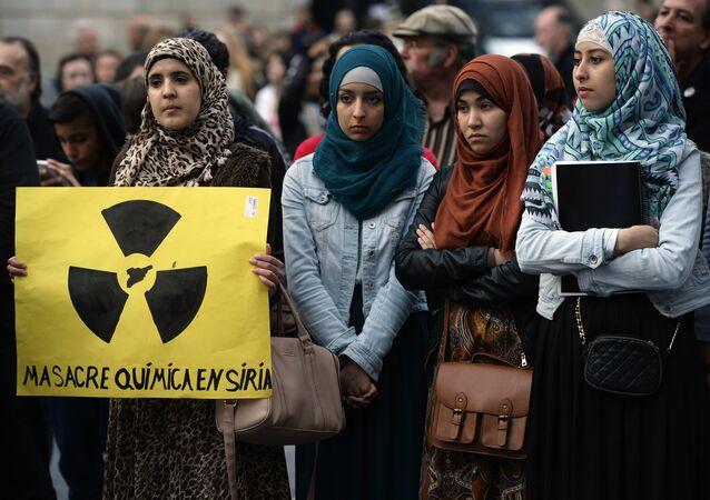 Manifestación contra el uso de armas químicas en Siria (imagen ilustrativa)