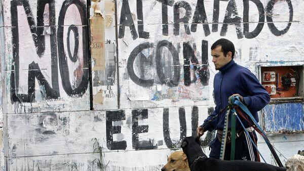 Un grafiti en Montevideo (Archivo) - Sputnik Mundo