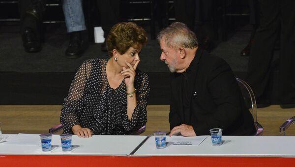 Los ex presidentes Luiz Inácio Lula da Silva y Dilma Rousseff - Sputnik Mundo