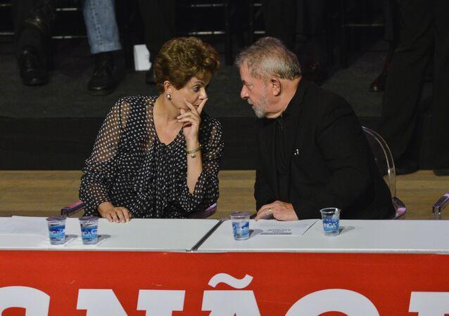 Dilma Rousseff y Luiz Inácio Lula da Silva, exmandatarios de Brasil (archivo)