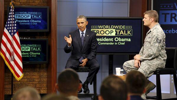 El presidente de EEUU, Barack Obama en la conferencia en Fort Meade - Sputnik Mundo