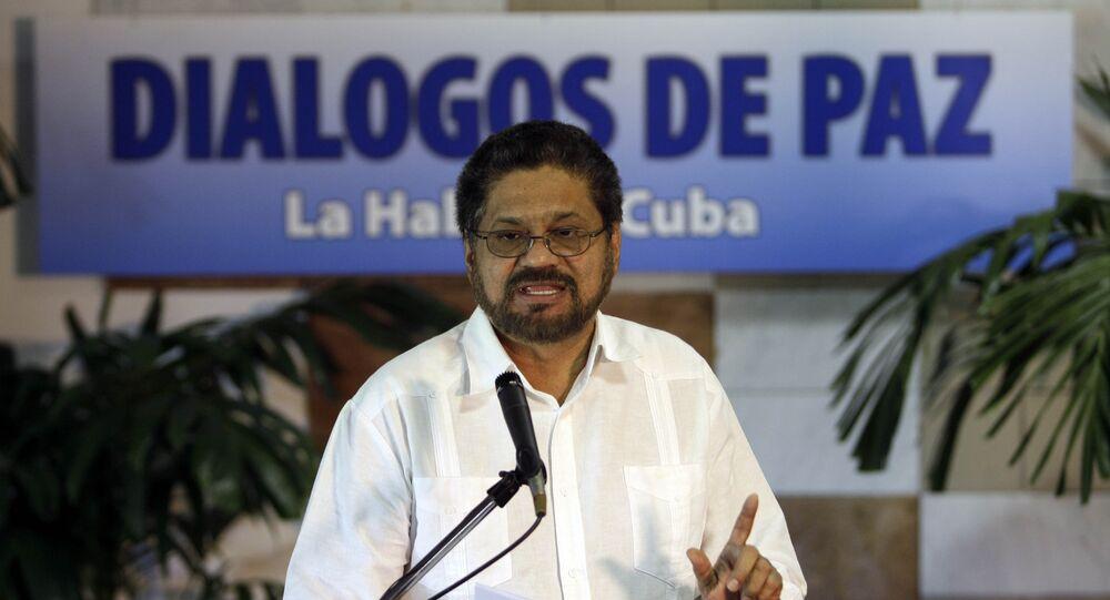El jefe de los negociadores guerrilleros, alias Iván Márquez