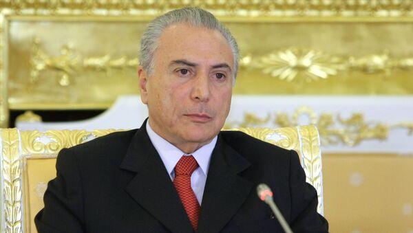 Michel Temer, presidente interino de Brasil - Sputnik Mundo