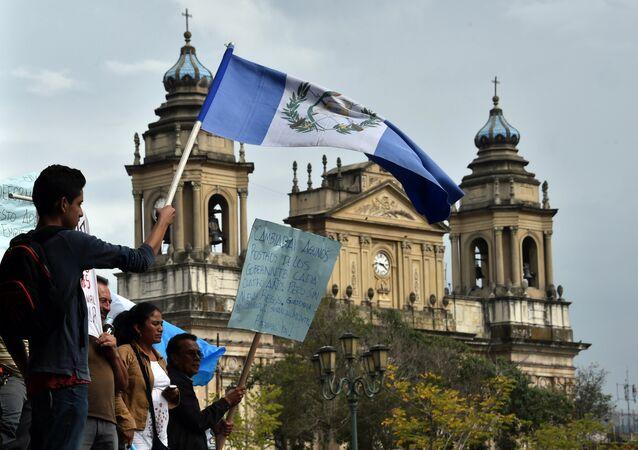Protesta contra la corrupción en la Ciudad de Guatemala, el 5 de septiembre, 2015