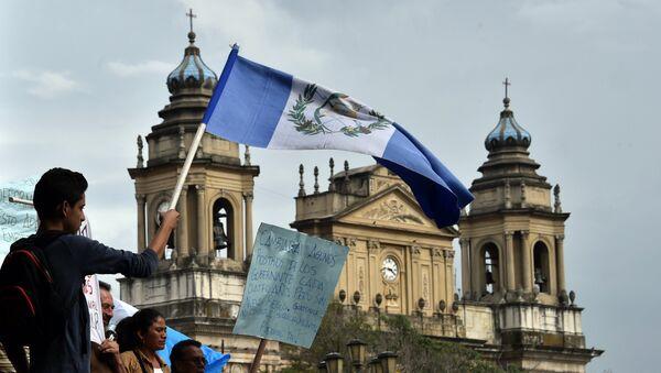 Protesta contra la corrupción en la Ciudad de Guatemala, el 5 de septiembre, 2015 - Sputnik Mundo