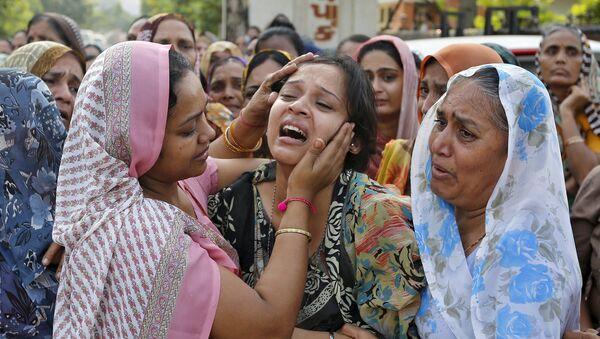 Lugar de la explosión en el distrito de Jhabua del estado de Madhya Pradesh, la ciudad de Petlawand, India - Sputnik Mundo