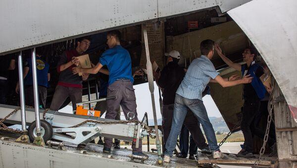 Ayuda humanitaria rusa para Siria (archivo) - Sputnik Mundo