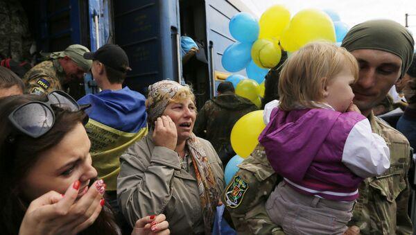 Soldados ucranianos llegan a Kiev - Sputnik Mundo