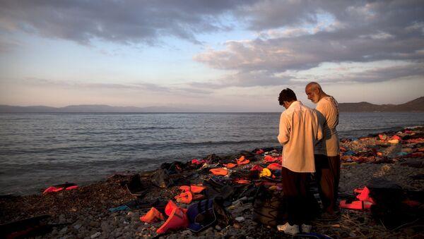 Refugiados en Grecia (archivo) - Sputnik Mundo
