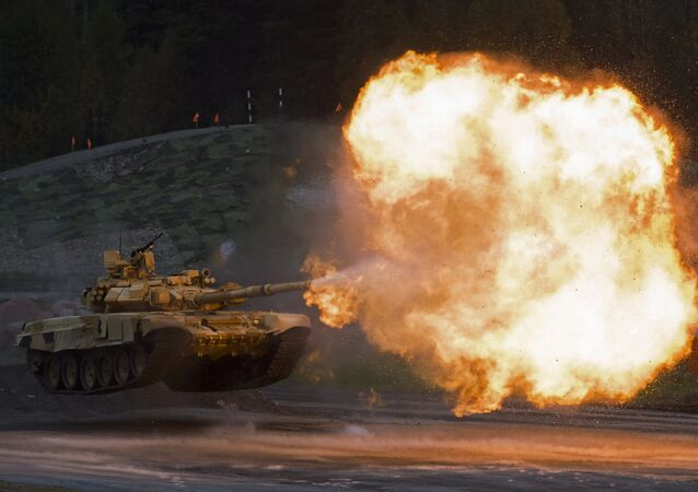 Tanque T-90A en la Russia Arms Expo 2015