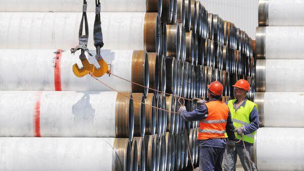 Construcción del gasoducto Turk Stream (archivo) - Sputnik Mundo