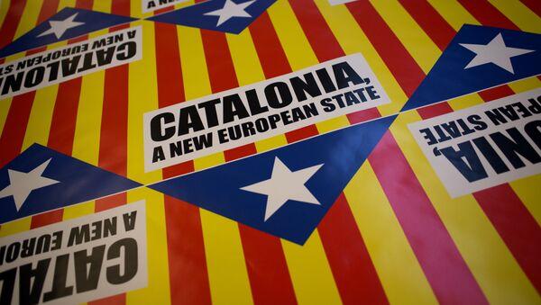 El eslogan que dice Cataluña, un estado nuevo de Europa (archivo) - Sputnik Mundo
