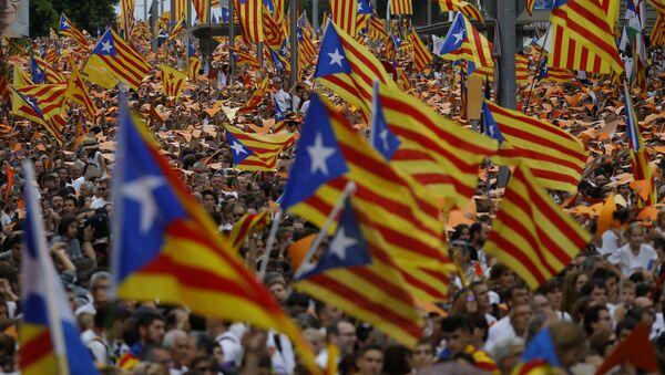 Mitin en apoyo de la independencia de Cataluña en Barcelona, el 11 de septiembre, 2015 - Sputnik Mundo