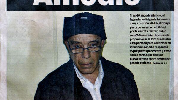 La primera página del Observador, diario uruguayo, con una imagen del ex guerrillero tupamaro, Héctor Amodio Pérez, el 22 de mayo 2013 - Sputnik Mundo