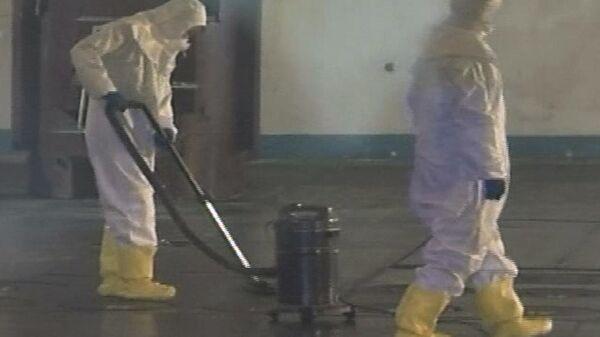 Trabajadores en el reactor nuclear norcoreano de Yongbyon (archivo) - Sputnik Mundo