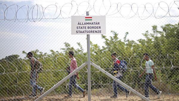 Frontera entre Hungría y Serbia - Sputnik Mundo