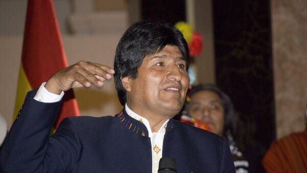 Evo Morales, presidente de Bolivias - Sputnik Mundo