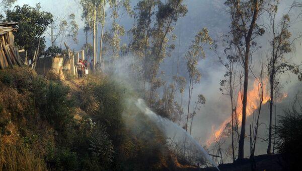 Incendio forestal en Ecuador (archivo) - Sputnik Mundo