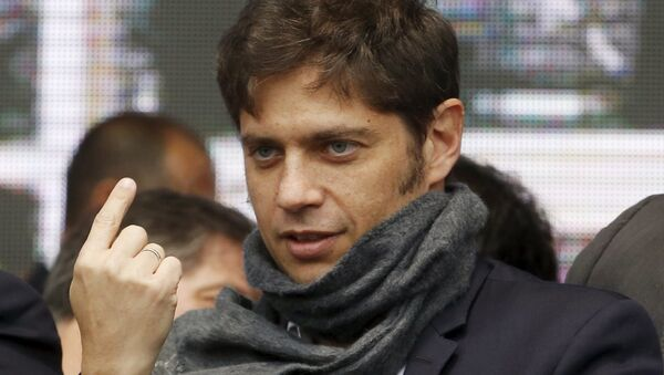 Argentina's Economy Minister Economy Minister Axel Kicillof attends the inauguration of a hospital care unit at the Buenos Aires' Jose C. Paz suburb, Argentina, September, 9, 2015 - Sputnik Mundo