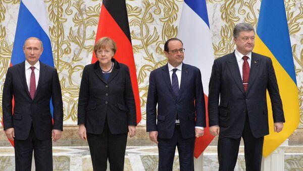 Líderes de los países miembros del Cuarteto de Normandía - Sputnik Mundo