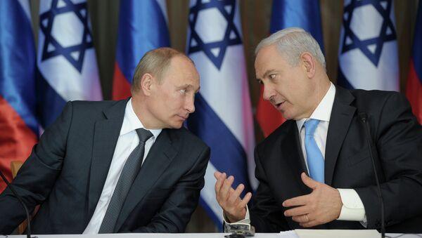 Presidente de Rusia, Vladímir Putin, y primer ministro israelí, Benjamín Netanyahu - Sputnik Mundo