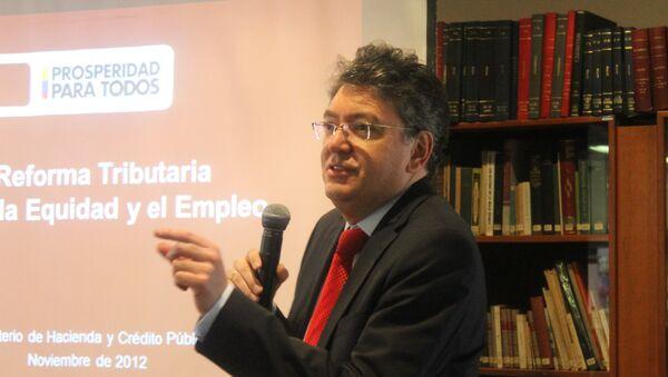 Ministro de Hacienda y Crédito Público, Mauricio Cárdenas Santamaría - Sputnik Mundo
