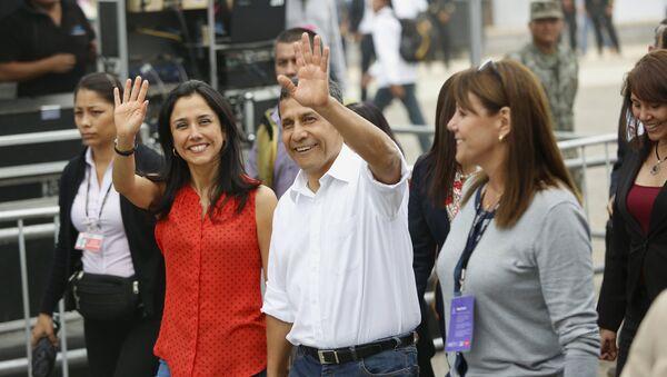 La primera dama de Perú, Nadine Heredia, y el presidente, Ollanta Humala - Sputnik Mundo