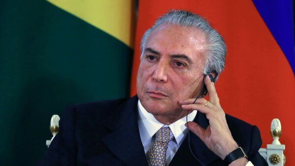 Vicepresidente de Brasil, Michel Temer - Sputnik Mundo