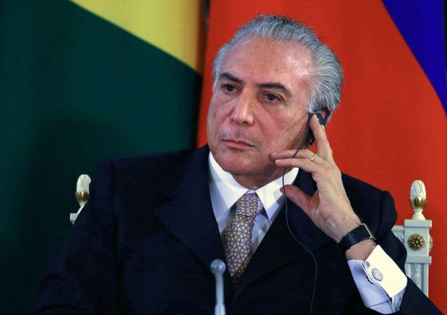 Michel Temer, el presidente interino de la República de Brasil