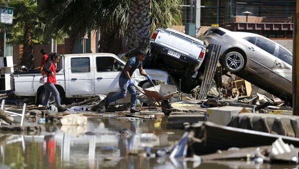 Consecuencias del sismo en Coquimbo, Chile - Sputnik Mundo