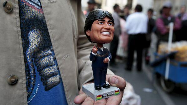 Estatuilla del presidente de Bolivia, Evo Morales - Sputnik Mundo