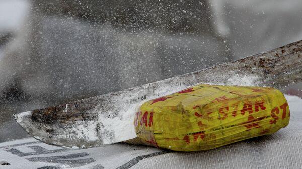 Un paquete de cocaína, foto de archivo - Sputnik Mundo