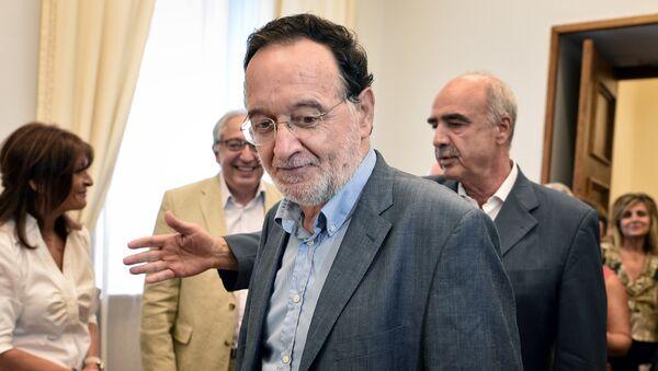Panayotis Lafazanis, líder del nuevo partido Unidad Popular - Sputnik Mundo