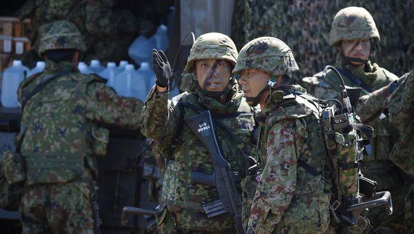 Soldados del Ejército de Japón - Sputnik Mundo